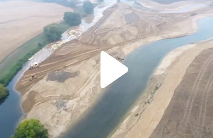 Ein Video der EGLV zeigt einen Drohnenflug über die neue Lippe-Schleife. Video: EGLV/ Team Vermessung
