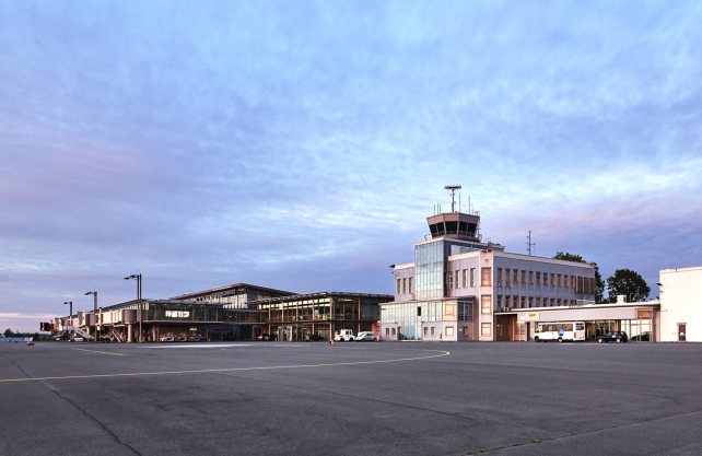 Das Vorfeld des Airports. Foto: Flughafen Paderborn-Lippstadt