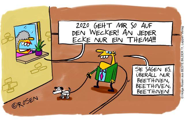 Mit diesem Cartoon belegte WESTFALENSPIEGEL-Cartoonist Holga Rosen den 2 Platz beim Deutschen Cartoonpreis. (c) Holga Rosen, Beste Bilder 11, Lappan Verlag