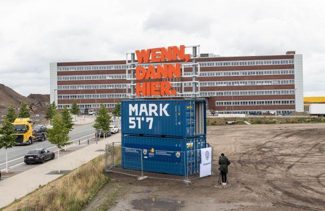 Entwicklungsgebiet MARK 51°7 auf den Flächen des ehemaligen Adam Opel AG Werkes. Foto: Stadt Bochum/Lutz Leitmann