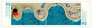 """Ausschnitt aus der Doppelbriefmarke der Serie """"Deutschland von oben"""". Foto: Hans Blossey / Alamy live News"""