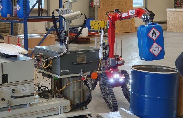 Ein Roboter im Trainingseinsatz. Foto: DRZ