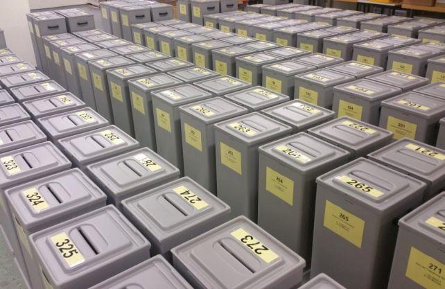 Wahlurnen der Stadt Münster. Foto: Stadt Münster