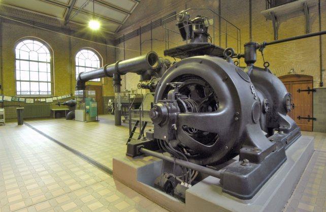 Blick ins Kessel- und Maschinenhaus des Schiffshebewerks, das einen Teil der neuen Dauerausstellung beherbergen wird. Foto: LWL/Hudemann