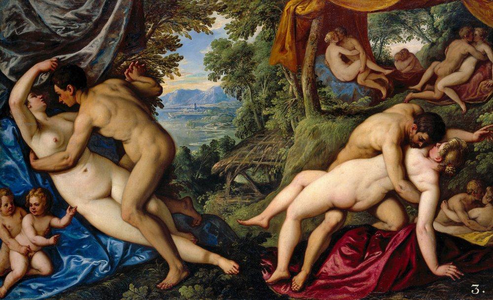 """PauwelsFranck, gen. Paolo Fiammingo, aus der Serie """"Amori"""": """"Il frutto dell'amore"""", 1585/89. Foto © KHM-Museumsverband"""