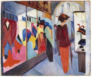 Das LWL-Museum für Kunst und Kultur zeigt rund 200 Werke von August Macke, dazu gehört auch das Modegeschäft von 1913. Foto: LWL/Neander