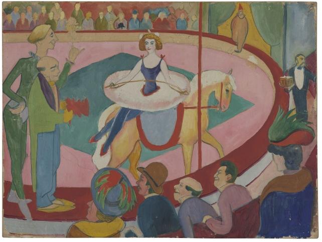 """Parallel zur großen Macke-Ausstellung ist die Familienausstellung """"August und das Zirkuspferd"""" zu sehen. Foto: LWL/Neander"""