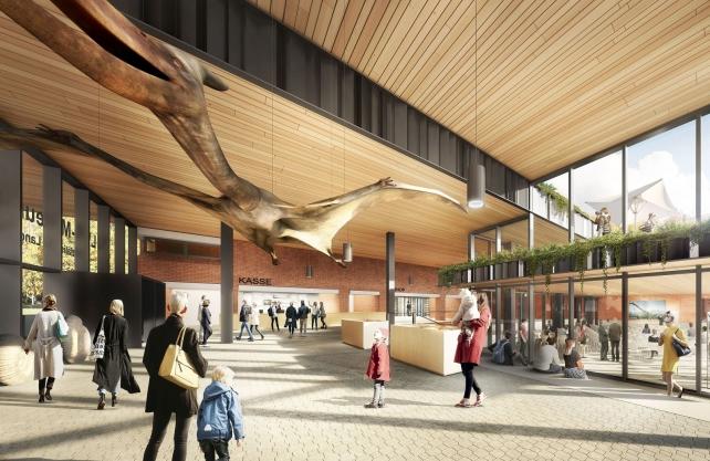 """Bis zu 300 Personen sollen in dem Tagungsaal im """"Forum für Naturwissenschaften"""" Platz haben. Bild: Kresings Architektur Düsseldorf GmbH"""