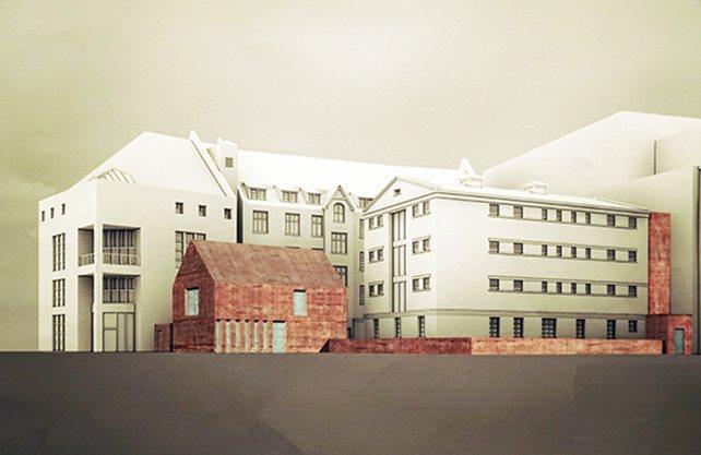 Die Steinwache soll um einen Anbau erweitert werden. Foto: Stadt Dortmund