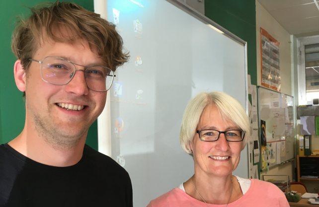 Unterrichten im Team: Barbara Rochholz und Nils Beckmann. Foto: Kiehl