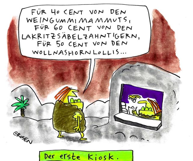 Cartoon von Holga Rosen.