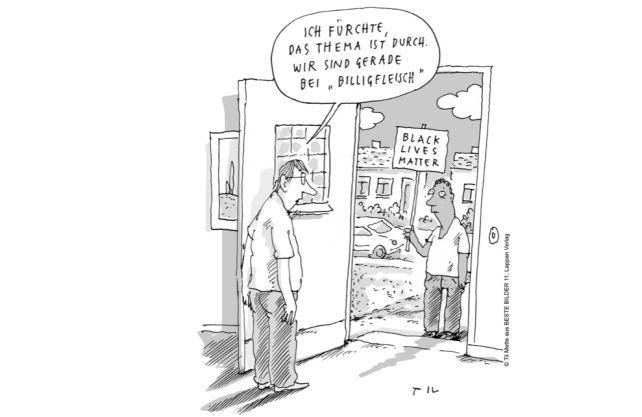 Der 3. Platz im Wettbewerb von Til Mette. Cartoon: (c) Til Mette, Beste Bilder 11, Lappan Verlag