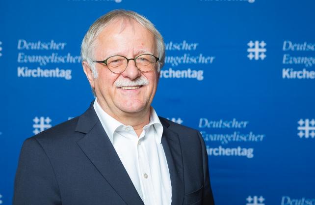 Hans Leyendecker, Präsident des 37. Deutschen Evangelischen Kirchentages Dortmund. / Foto: DEKT/robert gross photography