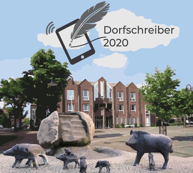 Die Gemeinde Everswinkel im Kreis Warendorf sucht für 2020 einen Dorfschreiber. / Collage: Kulturkreis Everswinkel