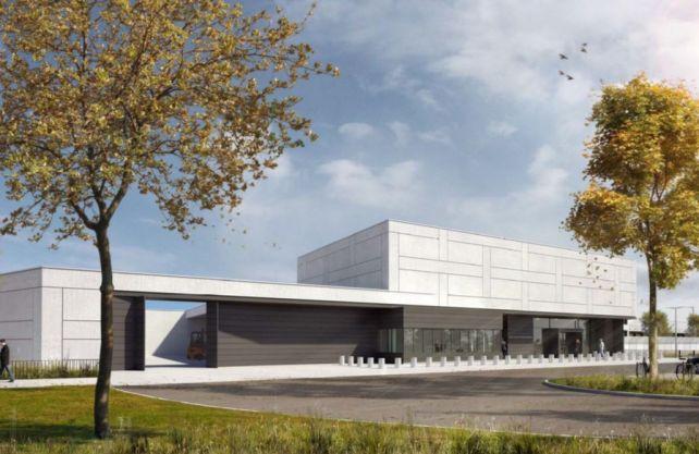 300 Millionen Euro kostet der Neubau. Im Herbst soll die größte Filiale in Deutschland in Betrieb gehen. Zeichnung: agn
