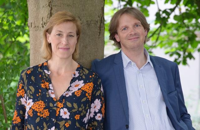 Die Festivalleitung Helene Grass und Albrecht Simons von Bockum Dolffs. Foto: Ann Christin Hollmann