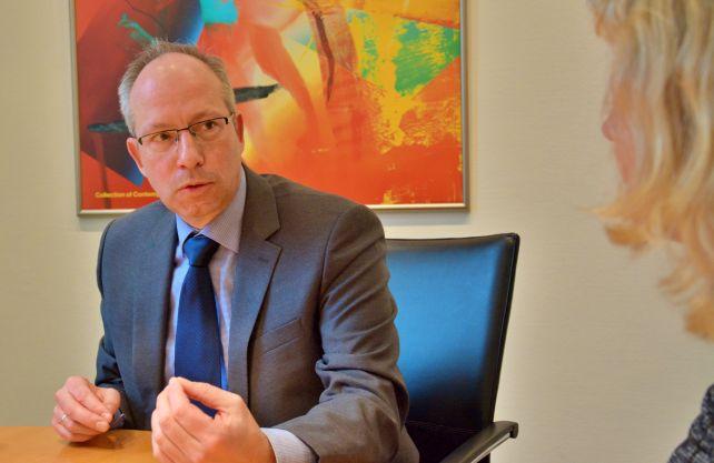 Matthias Löb im Gespräch mit dem WESTFALENSPIEGEL. Foto: Jürgen Bröker