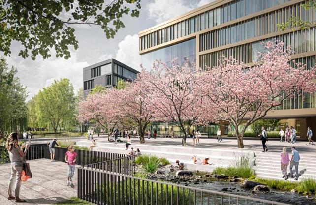 So könnte der Campus Süd am Löhrtor in Siegen aussehen. Grafik: Universität Siegen