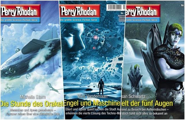 Mehr als 3000 Hefte sind in der Perry Rhodan Serie bisher erschienen. Fotos: © Pabel-Moewig Verlag KG, Rastatt.