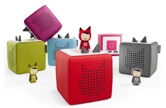 Diese Boxen haben das Kinderhörspiel revolutioniert. Auf den Figuren sind bestimmte Hörspiele gespeichert. Foto: Boxen GmbH