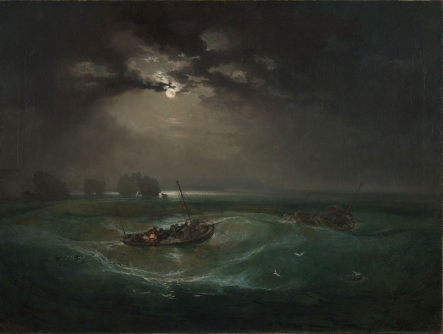Joseph Mallord William Turner (1775-1851), Fishermen at Sea, Exhibited 1796, © Tate: Accepted by the nation as part of the Turner Bequest 1856. Foto: ©Tate, 2019