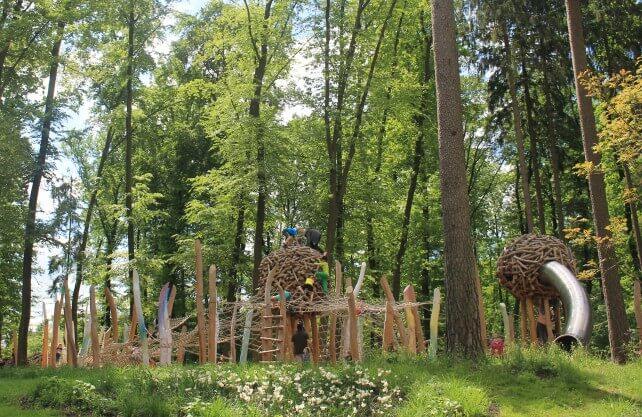 Der Waldspielplatz Elfenhain in Bad Lippspringe. Foto: Gartenschau Bad Lippspringe