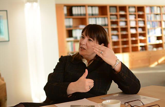 Prof. Liane Bucholz im Gespräch mit dem WESTFALENSPIEGEL. Foto: Jürgen Bröker