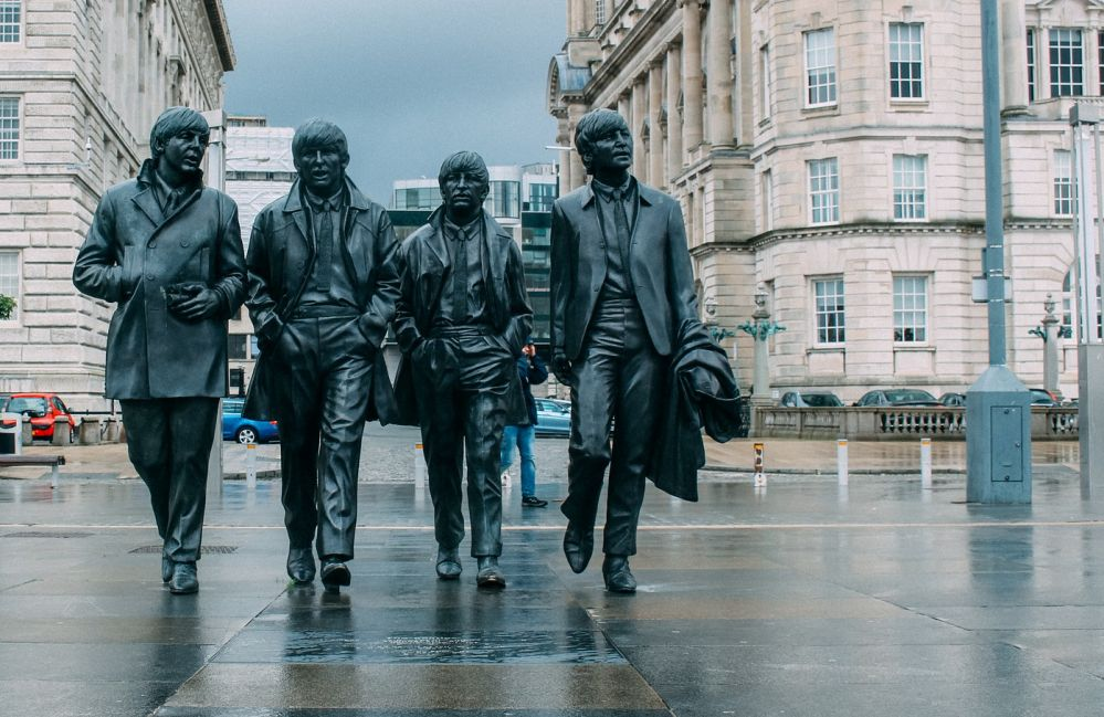 Die Beatles als Statuen in Liverpool. Foto: pixaby