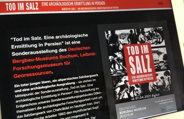"""Die Sonderausstellung """"Tod im Salz"""" ist digital zu sehen. Foto: Kiehl"""