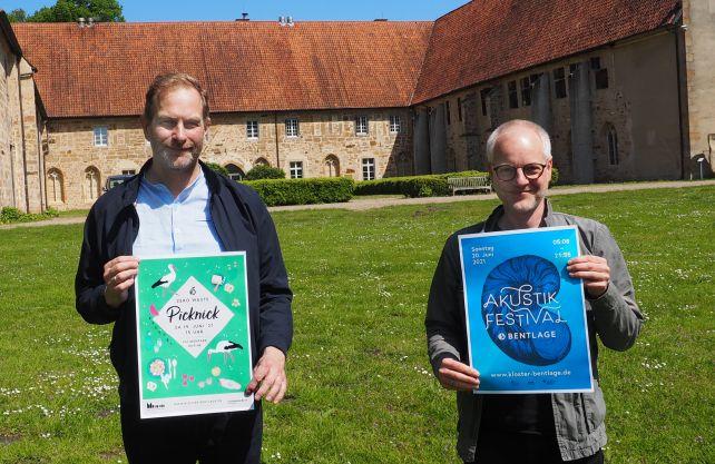 Gerrit Musekamp und Jan-Christoph Tonigs präsentieren am Kloster Bentlage nachhaltig gute Unterhaltung. Foto: privat