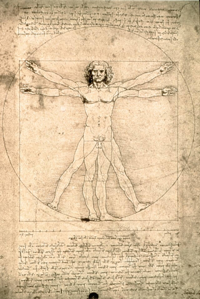 Foto: Leonardo da Vinci, Der Mensch des Vitruv, um 1490, Galleria dell´Accademia (Inv.228), © Institut für Kulturaustausch, Tübingen 2018