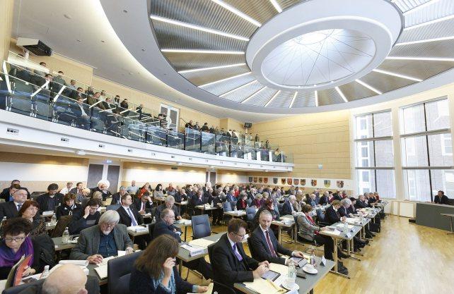 Die Landschaftsversammlung im Plenarsaal des LWL. Foto: LWL/Arendt