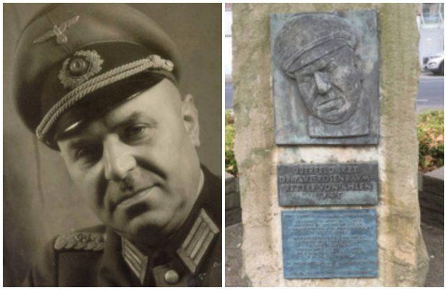 Durch mutiges Einschreiten verhinderte Dr. Paul Rosenbaum (li.), dass Ahlen 1945 in Schutt und Asche gelegt wurde. In der Stadt erinnert ein Gedenkstein an den mutigen Mann. Fotos: Stadt Ahlen