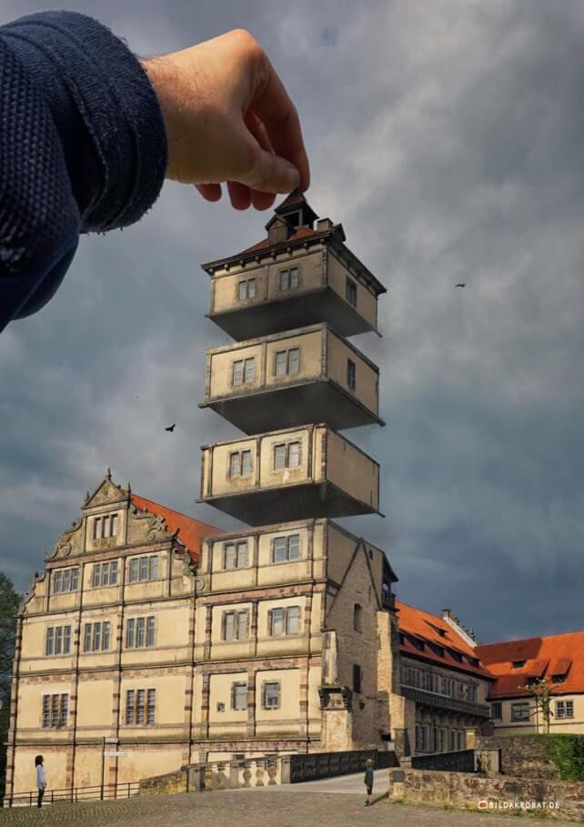 Turmbau einmal anders. Foto: M. Kunisch / Bildakrobat.de
